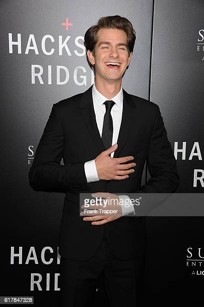Actor Andrew Garfield attends the screening of Summit Entertainment's Hacksaw Ridge held at the Samuel Goldwyn Theater on October 24 2016 in Beverly...