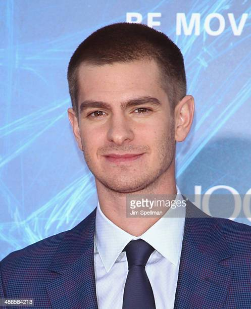 Actor Andrew Garfield attends the 'The Amazing SpiderMan 2' New York Premiere on April 24 2014 in New York City