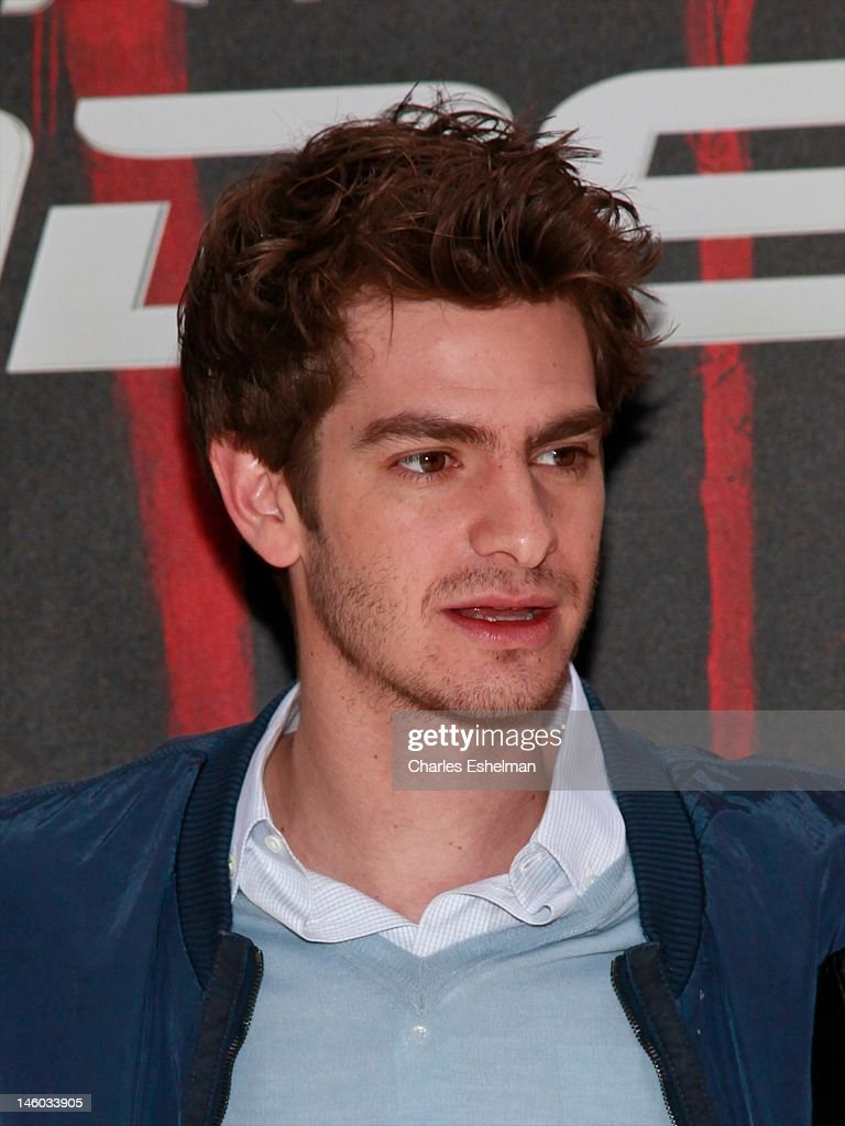Actor Andrew Garfield attends the 'The Amazing Spider-Man' New York City Photo Call at Crosby Street Hotel on June 9, 2012 in New York City.
