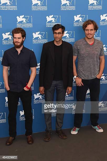 R Actor Andrew Garfield director Ramin Bahrani and actor Michael Shannon wearing a JaegerLeCoultre Duometre a Quantieme Lunaire watch attend the '99...