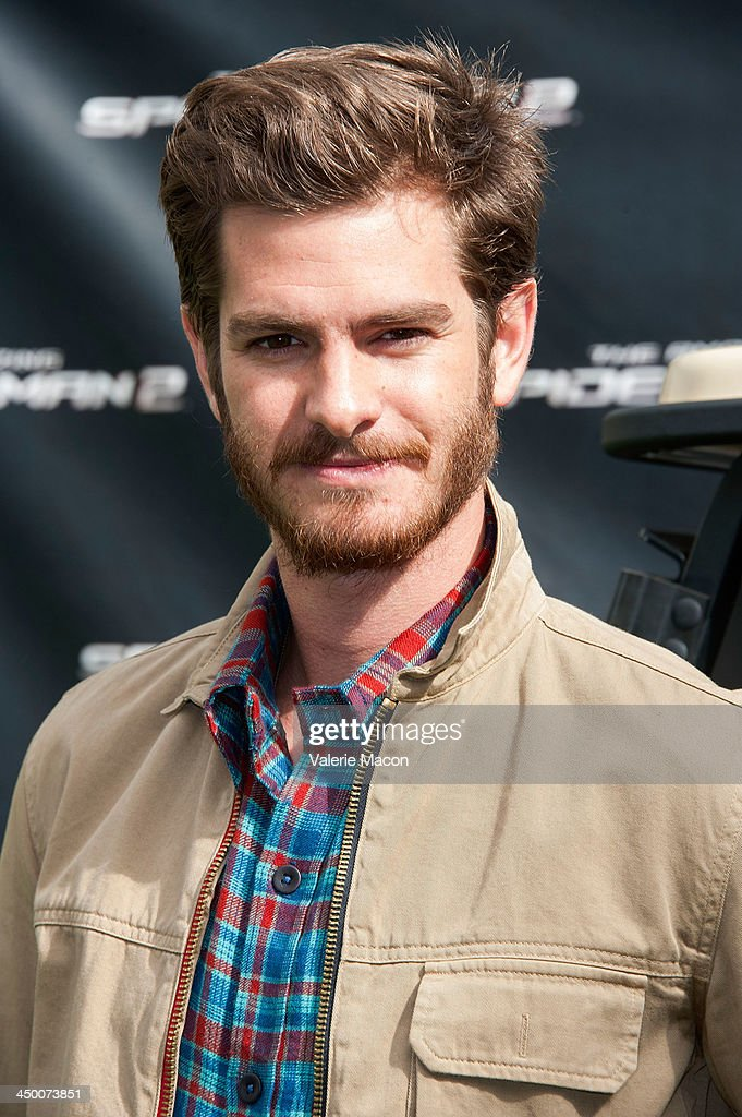 Actor Andrew Garfield poses at 'The Amazing Spiderman 2' Los Angeles Photo Call at Sony Pictures Studios on November 16, 2013 in Culver City, California.