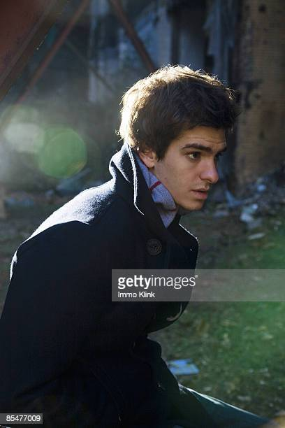 Actor Andrew Garfield poses for a portrait shoot for the Independent magazine in London on December 13 2007