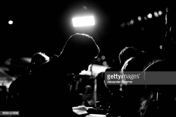 Actor Andrew Garfield signs autographs prior the 'Breathe' premiere at the 13th Zurich Film Festival on October 6 2017 in Zurich Switzerland The...