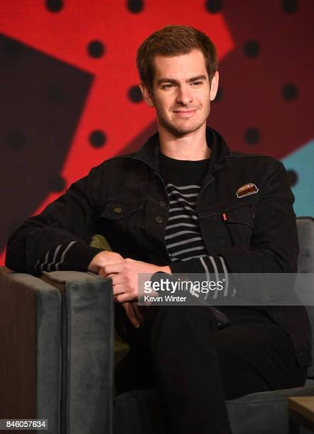 Actor Andrew Garfield speaks onstage at 'Breathe' press conference during 2017 Toronto International Film Festival at TIFF Bell Lightbox on September...