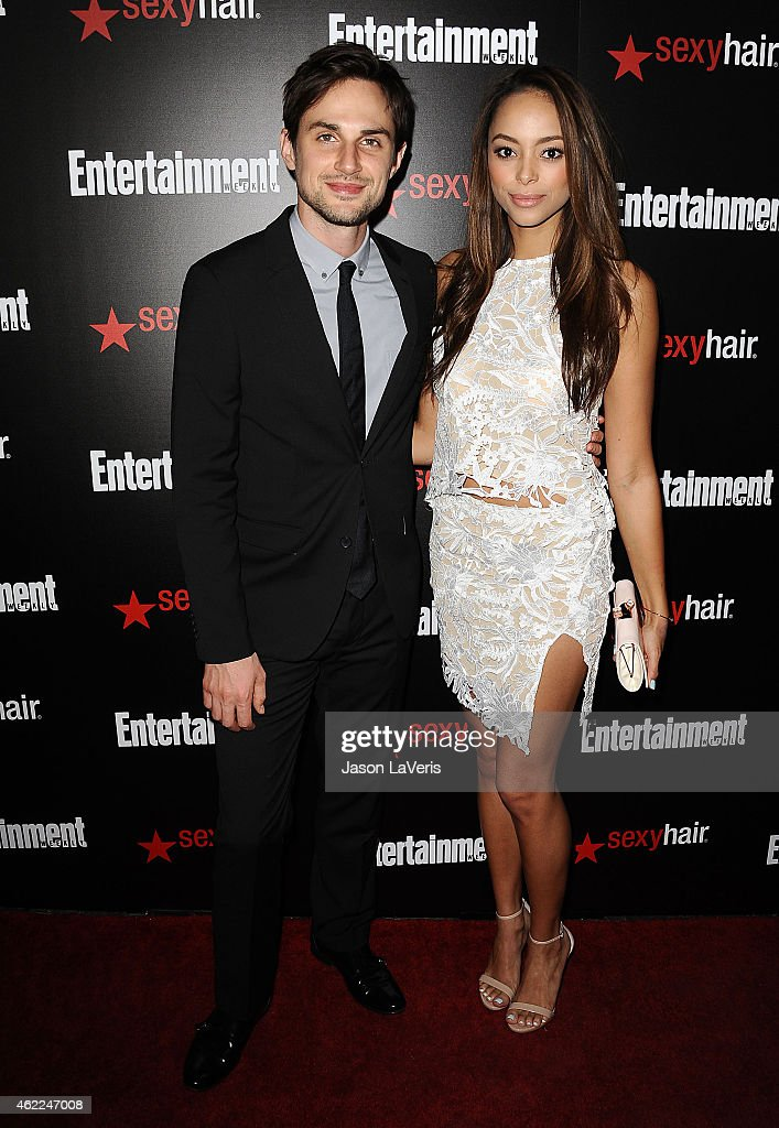 Actor Andrew J. West and actress Amber Stevens attend the Entertainment Weekly celebration honoring nominees for the Screen Actors Guild Awards at Chateau Marmont on January 24, 2015 in Los Angeles, California.