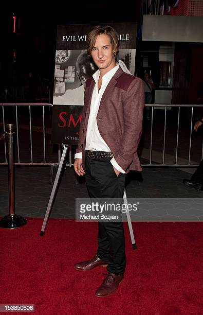 Actor Andrew James Allen attends 'Smiley' Los Angeles Premiere at AMC Universal City Walk on October 9 2012 in Universal City California