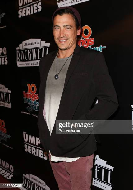 Actor Andrew Keegan attends the unauthorized musical parody of '10 Things I Hate About You' at Rockwell Table and Stage on March 22 2019 in Los...