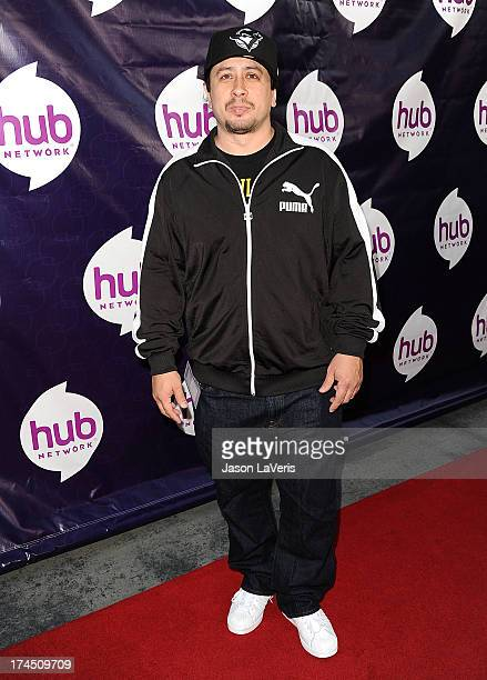 Actor Andrew Kishino attends the Hub Network's 2013 Television Critics Association summer press tour event at The Globe Theatre at Universal Studios...