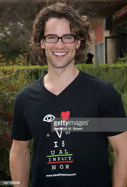 Actor Andrew Lees of the cast of Starz Spartacus War Of The Damned lend support at the 2013 Visual Impact Now Annual Eye Clinic Event on March 20...