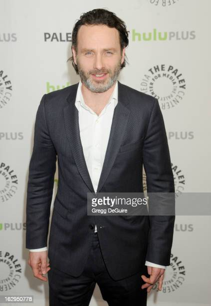 Actor Andrew Lincoln arrives at the 30th Annual PaleyFest The William S Paley Television Festival featuring 'The Walking Dead' at Saban Theatre on...