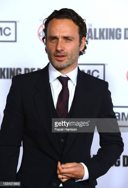 Actor Andrew Lincoln arrives at the premiere of AMC's 'The Walking Dead' 3rd Season at Universal CityWalk on October 4 2012 in Universal City...