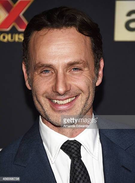 Actor Andrew Lincoln arrives at the Season 5 premiere of AMC's 'The Walking Dead' at AMC Universal City Walk on October 2 2014 in Universal City...