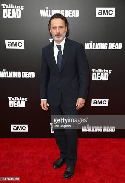 Actor Andrew Lincoln attends AMC presents Talking Dead Live for the premiere of The Walking Dead at Hollywood Forever on October 23 2016 in Hollywood...