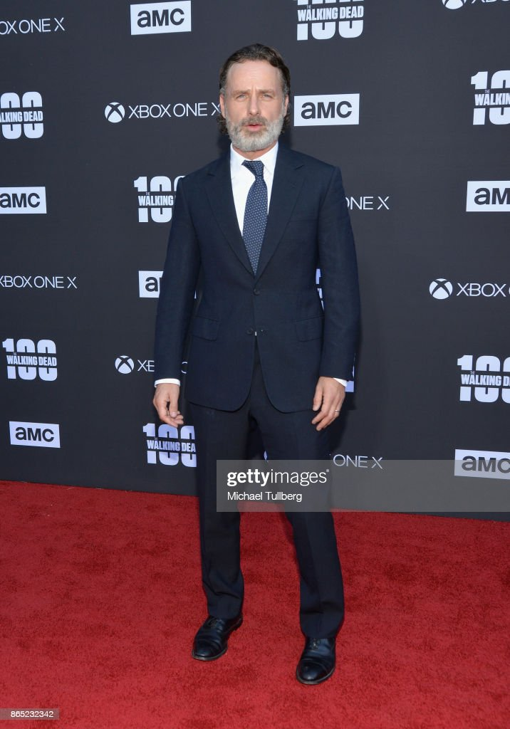 Actor Andrew Lincoln attends AMC's celebration of the 100th episode of 'The Walking Dead' at The Greek Theatre on October 22, 2017 in Los Angeles, California.