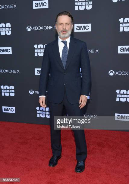 Actor Andrew Lincoln attends AMC's celebration of the 100th episode of 'The Walking Dead' at The Greek Theatre on October 22 2017 in Los Angeles...