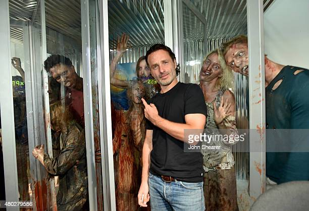 Actor Andrew Lincoln attends AMC's 'The Walking Dead' at ComicCon 2015 on July 10 2015 in San Diego California