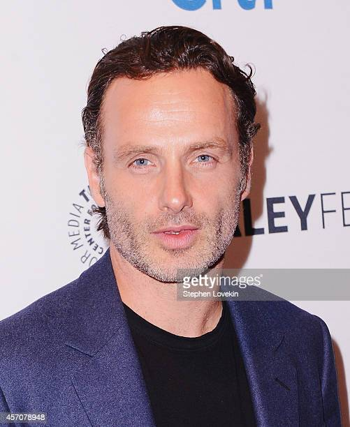 Actor Andrew Lincoln attends The 2nd Annual Paleyfest New York Presents 'The Walking Dead' at Paley Center For Media on October 11 2014 in New York...