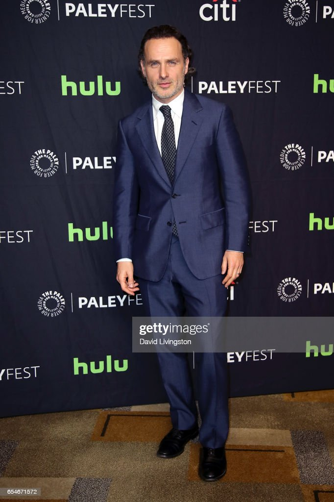 Actor Andrew Lincoln attends The Paley Center for Media's 34th Annual PaleyFest Los Angeles opening night presentation of 'The Walking Dead' at Dolby Theatre on March 17, 2017 in Hollywood, California.