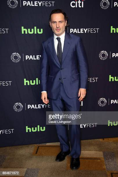 Actor Andrew Lincoln attends The Paley Center for Media's 34th Annual PaleyFest Los Angeles opening night presentation of 'The Walking Dead' at Dolby...