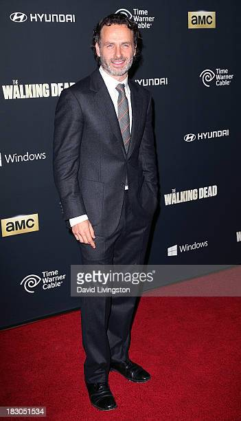 Actor Andrew Lincoln attends the premiere of AMC's 'The Walking Dead' 4th Season at Universal CityWalk on October 3 2013 in Universal City California