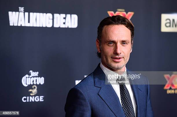 Actor Andrew Lincoln attends the season 5 premiere of 'The Walking Dead' at AMC Universal City Walk on October 2 2014 in Universal City California