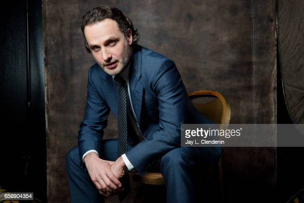 Actor Andrew Lincoln is photographed from AMC's 'The Walking Dead is photographed during Paley Fest for Los Angeles Times on March 17 2017 in Los...