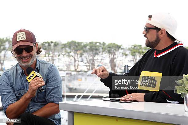 Actor Andrew Lincoln of The Walking Dead and host Kevin Smith attend the IMDb Yacht at San Diego ComicCon 2016 Day Three at The IMDb Yacht on July 23...