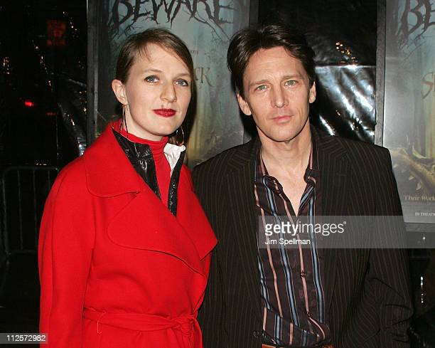 Actor Andrew McCarthy and Delores Rice arrive at the The Spiderwick Chronicles Premiere at the AMC Lincoln Square on February 4 2008 in New York City