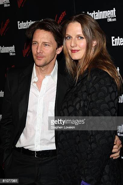 Actor Andrew McCarthy and Dolores Rice arrive for the Entertainment Weekly and Vavoom annual upfront party at the Bowery Hotel on May 13, 2008 in New...