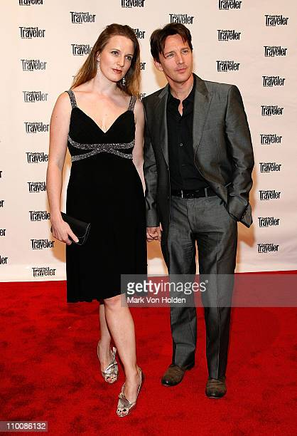 Actor Andrew McCarthy and Dolores Rice attend Conde Nast Traveler's 2008 Readers' Choice Awards at the New York Public Library on October 15, 2008 in...