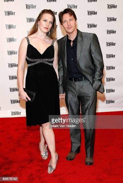 Actor Andrew McCarthy and Dolores Rice attend Conde Nast Traveler's 2008 Readers' Choice Awards at the New York Public Library on October 15 2008 in...