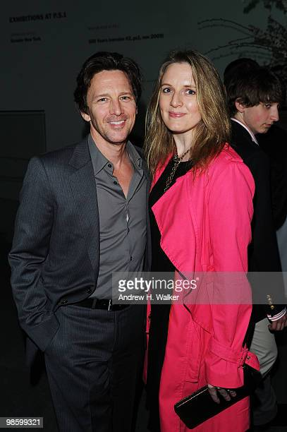 Actor Andrew McCarthy and Dolores Rice attend the 2010 Tribeca Film Festival opening night premiere after party for Shrek Forever After at the MOMA...