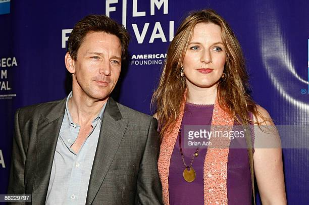 Actor Andrew McCarthy and Dolores Rice attend the 8th Annual Tribeca Film Festival 'The Good Guy' premiere at SVA Theatre on April 26 2009 in New...