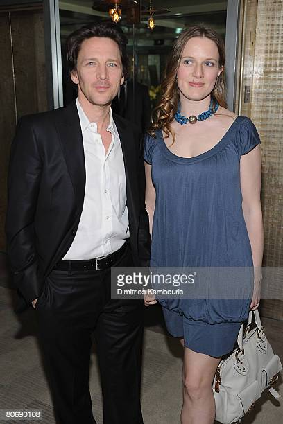 Actor Andrew McCarthy and Dolores Rice attend the after party for The Life Before Her Eyes hosted by The Cinema Society and Nicole Miller at The Soho...