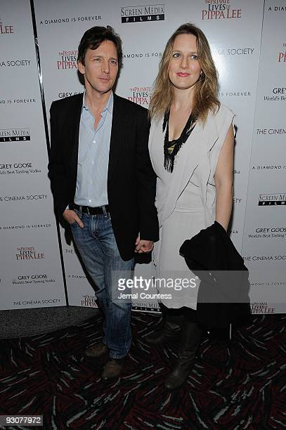 "Actor Andrew McCarthy and Dolores Rice attend The Cinema Society & A Diamond is Forever screening of ""The Private Lives of Pippa Lee"" at AMC Loews..."