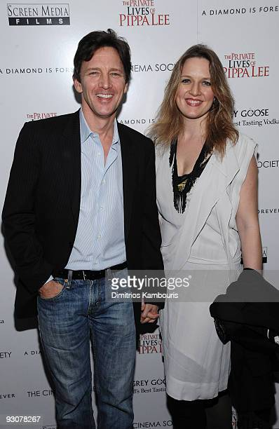 Actor Andrew McCarthy and Dolores Rice attend The Cinema Society A Diamond Is Forever screening of 'The Private Lives of Pippa Lee' at AMC Loews 19th...