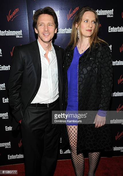 Actor Andrew McCarthy and Dolores Rice attend the Entertainment Weekly Vavoom Annual Upfront Party at the Bowery Hotel on May 13 2008 in New York City