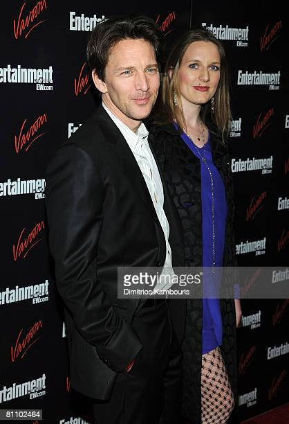 Actor Andrew McCarthy and Dolores Rice attend the Entertainment Weekly & Vavoom Annual Upfront Party at the Bowery Hotel on May 13, 2008 in New York...