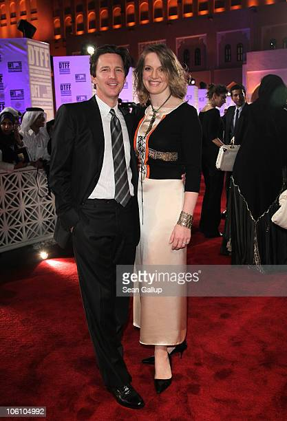 Actor Andrew McCarthy and Dolores Rice attend the Opening Night Gala during the 2010 Doha Tribeca Film Festival held at the Katara Opera House on...