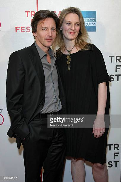 "Actor Andrew McCarthy and Dolores Rice attend the premiere of ""Nice Guy Johnny"" during The 2010 Tribeca Film Festival at the Tribeca Performing Arts..."