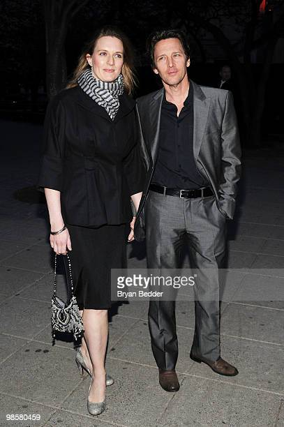 Actor Andrew McCarthy and Dolores Rice attend the Vanity Fair party before the 2010 Tribeca Film Festival at the New York State Supreme Court on...