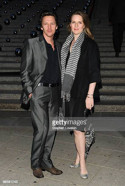 Actor Andrew McCarthy and Dolores Rice attend the Vanity Fair Party during the 9th Annual Tribeca Film Festival at the New York State Supreme Court...