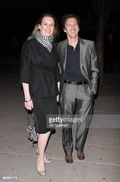 Actor Andrew McCarthy and Dolores Rice attend the Vanity Fair Party during the 9th Annual Tribeca Film Festival at New York State Supreme Court on...