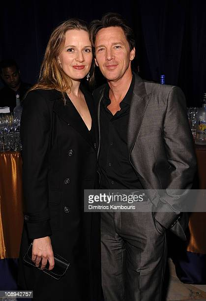 Actor Andrew McCarthy and Dolores Rice attends Conde Nast Traveler's 2008 Reader's Choice Awards at the New York Public Library on October 15 2008 in...