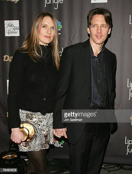 Actor Andrew McCarthy and wife arrive at the 'Lipstick Jungle' Premiere at Saks Fifth Avenue on January 31 2008 in New York City