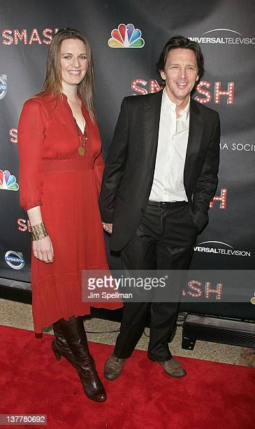 Actor Andrew McCarthy and wife attend the NBC Entertainment Cinema Society with Volvo premiere of 'Smash' at the Metropolitan Museum of Art on...