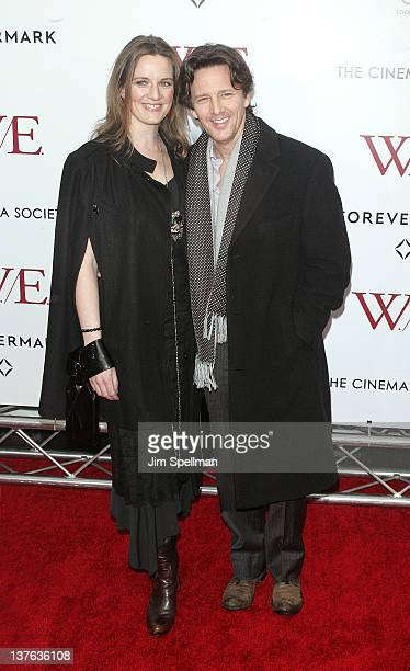 Actor Andrew McCarthy and wife attend The Weinstein Company with The Cinema Society Forevermark premiere of 'WE' at the Ziegfeld Theater on January...