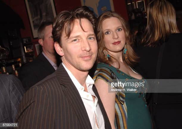 Actor Andrew McCarthy and wife Carol Schneider attend Entertainment Weekly's Oscar viewing party at Elaine's March 5 2006 in New York City