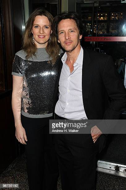 Actor Andrew McCarthy and Wife Dolores Rice attend the CHANEL Tribeca Film Festival Dinner in support of the Tribeca Film Festival Artists Awards...