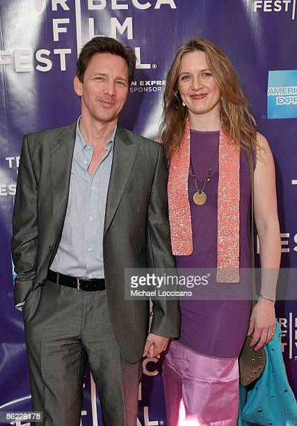 Actor Andrew McCarthy and wife Dolores Rice attend the premiere of The Good Guy during the 2009 Tribeca Film Festival at SVA Theater on April 26 2009...